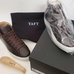 Taft The High Top Sneaker in Coffee size 8